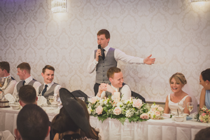 Abbey hotel Roscommon Speeches Wedding photographer reception venue west of Ireland