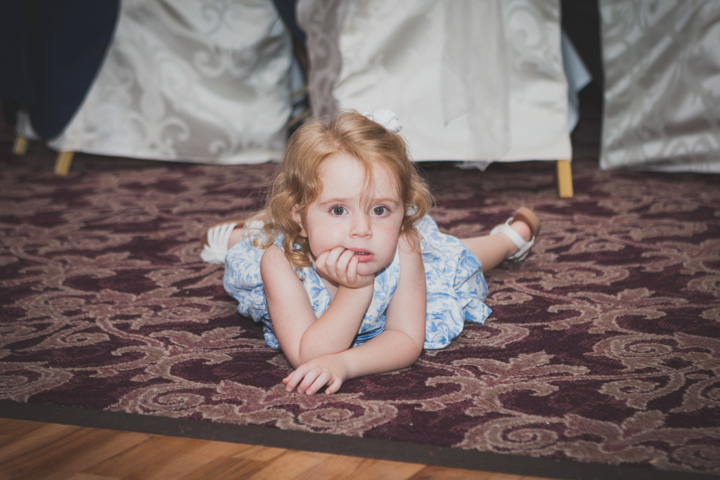 Wedding photography Galway reception tired girl Abbey hotel Roscommon