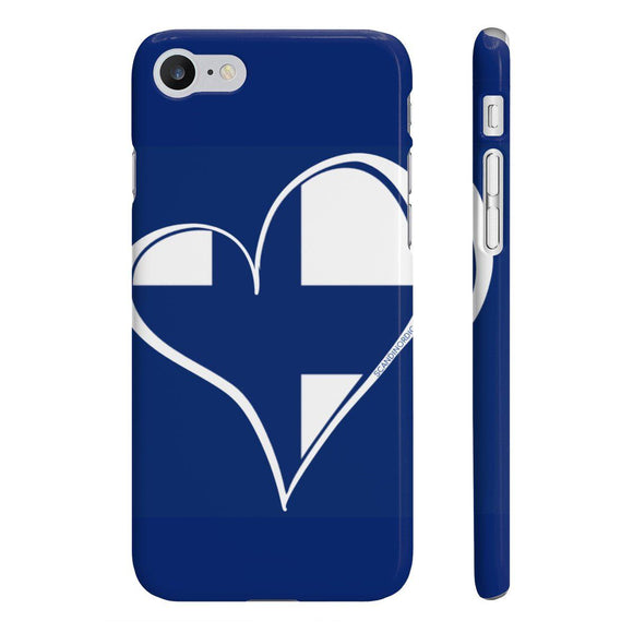 Suomi Finland Heart Phone Case (Blue) ~ CUSTOMIZE FREE - SCANDINORDIC.com