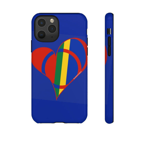 Sami Heart Phone Case Blue ~ CUSTOMIZE FREE - SCANDINORDIC.com