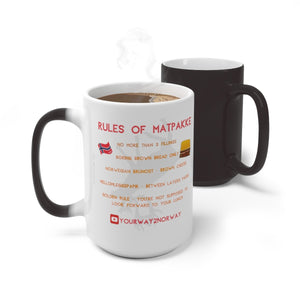 YOURWAY2NORWAY MATPAKKE RULES MAGIC MUG RED - SCANDINORDIC.com