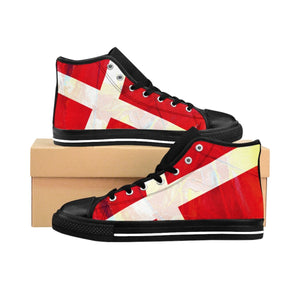 SCANDINORDIC Denmark Grunge Flag Footwear ~ Exclusive Design - SCANDINORDIC.com