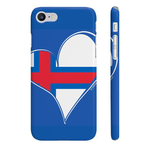 Faroe Heart Phone Case Blue ~ CUSTOMIZE FREE - SCANDINORDIC.com
