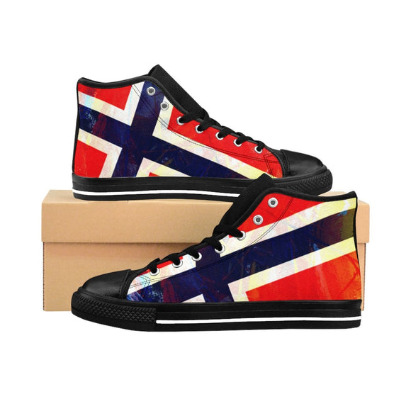 SCANDINORDIC Norway Grunge Flag Footwear ~ Exclusive Design - SCANDINORDIC.com