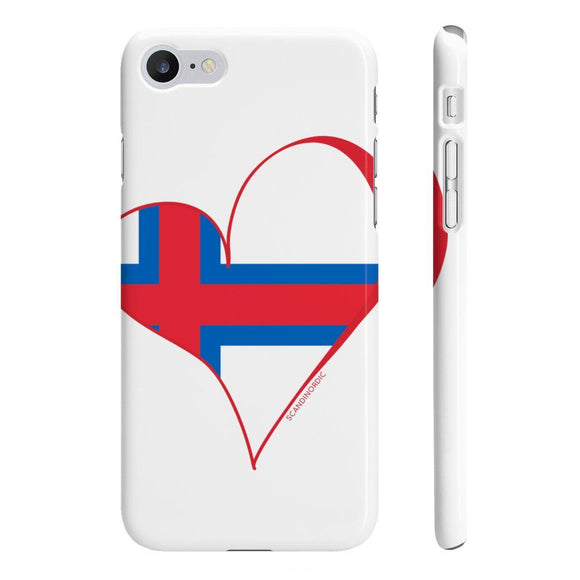 Faroe Heart Phone Case White ~ CUSTOMIZE FREE - SCANDINORDIC.com