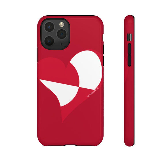 Greenland Heart Phone Case Red ~ CUSTOMIZE FREE - SCANDINORDIC.com
