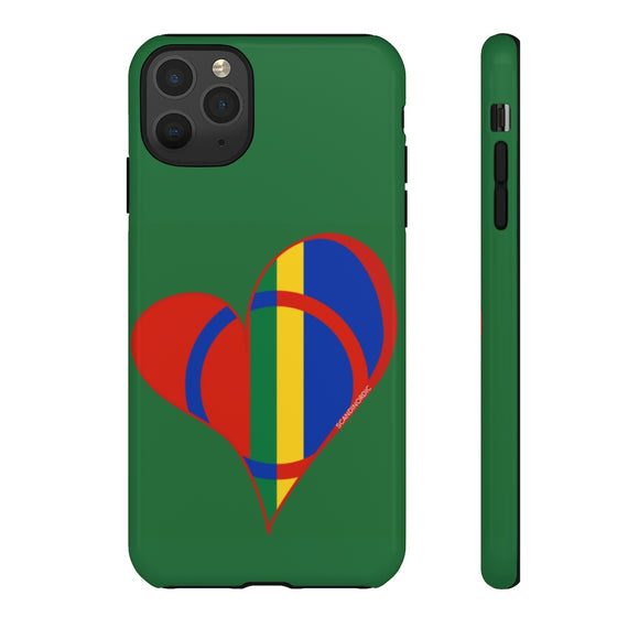 Sámi Heart Phone Case Green - SCANDINORDIC.com