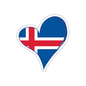 SCANDINORDIC Iceland Flagg Heart Sticker - SCANDINORDIC.com