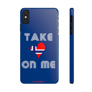Blue TAKE ON ME Phone Case SCANDI NORDIC - SCANDINORDIC.com