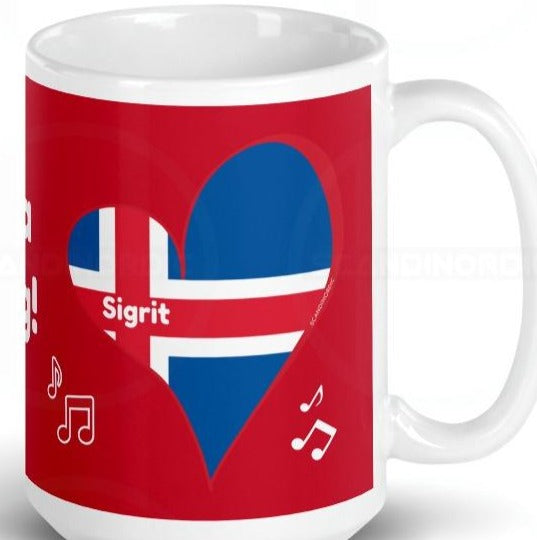 Custom JaJa Ding Dong Mug Red or Black SCANDINORDIC - SCANDINORDIC.com