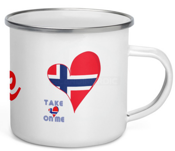 Custom Retro 80s Mug Red Heart Mug - SCANDINORDIC.com