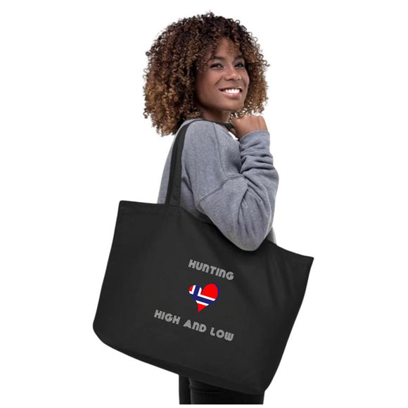 Hunting High And Low ORGANIC ECO TOTE (Black) - SCANDINORDIC.com