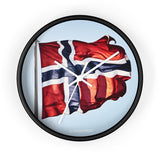 SCANDINORDIC Norway Flag Clock - SCANDINORDIC.com