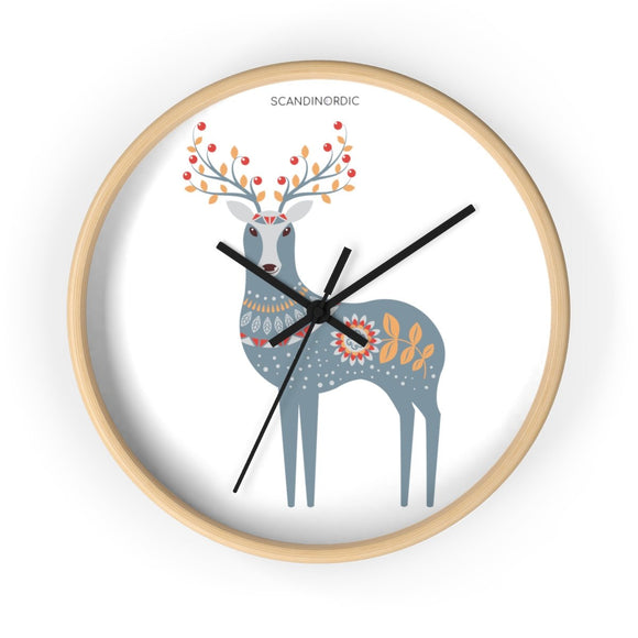 SCANDINORDIC Folk Art Deer Clock - SCANDINORDIC.com