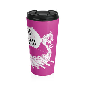 DREKI Shield Maiden Travel Mug - SCANDINORDIC.com