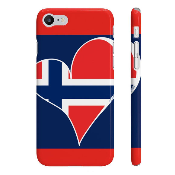 Norway Heart Phone Case Red and Blue ~ CUSTOMIZE FREE - SCANDINORDIC.com