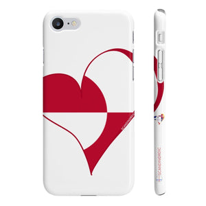 SCANDINORDIC Greenland Heart Phone Case White ~ CUSTOMIZE FREE - SCANDINORDIC.com