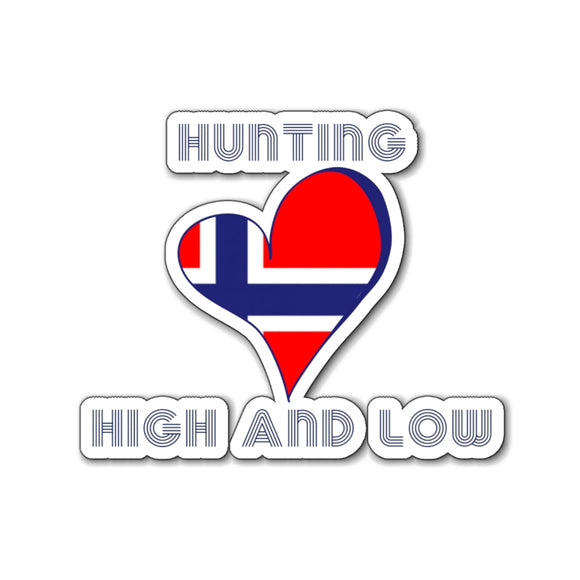 Retro Hunting High and Low Norway Magnet - SCANDINORDIC.com