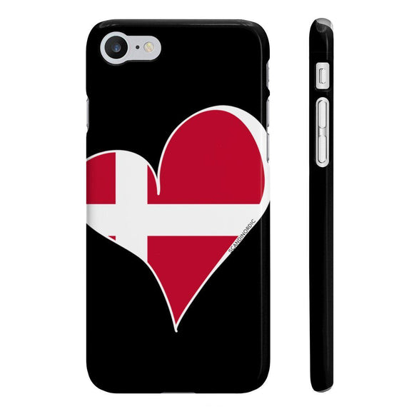SCANDINORDIC Denmark Heart Phone Case Black ~ CUSTOMIZE FREE - SCANDINORDIC.com