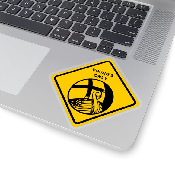 VIKINGS ONLY Modern Sticker - SCANDINORDIC.com
