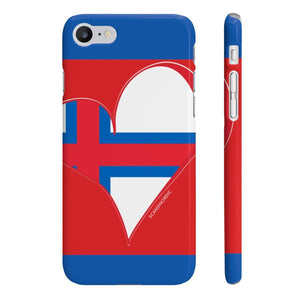 Faroe Heart Phone Case Red and Blue ~ CUSTOMIZE FREE - SCANDINORDIC.com
