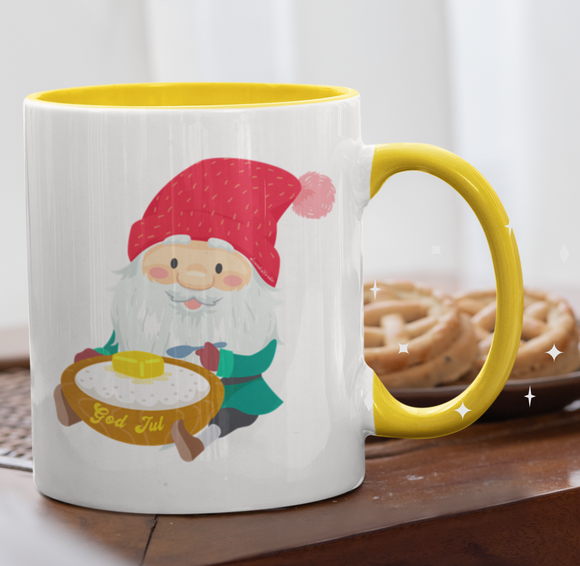 CUSTOM Christmas Jul Nisse Elf Mug - SCANDINORDIC.com
