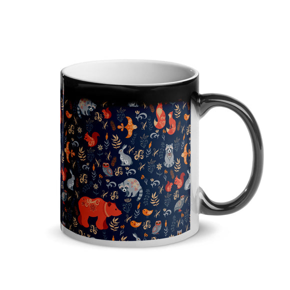 SCANDI NORDIC Forest Animals Blue Magic Mug - SCANDINORDIC.com