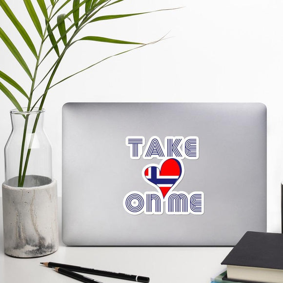 Retro Norway TAKE ON ME Sticker - SCANDINORDIC.com
