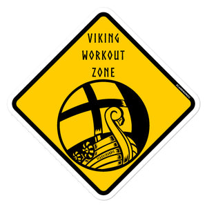 Viking Workout Zone Sticker - SCANDINORDIC.com