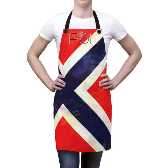 Norway Flag Apron - FREE CUSTOMIZATION - SCANDINORDIC.com