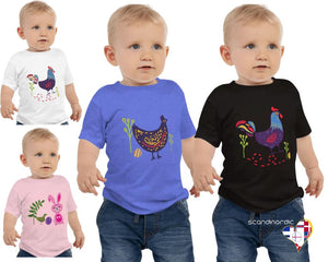 Nordic Rooster Toddler Shirt - SCANDINORDIC.com