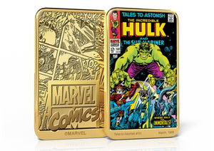 Marvel Comics El Increíble Hulk, Lingote bañado en Oro 24 Quilates - 'Tales to Astonish' #101