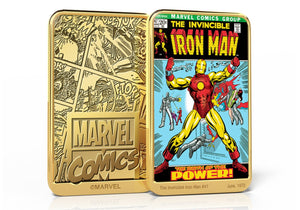 Marvel Comics Iron Man, Lingote bañado en Oro 24 Quilates - 'Why Must There Be A Iron Man' #47
