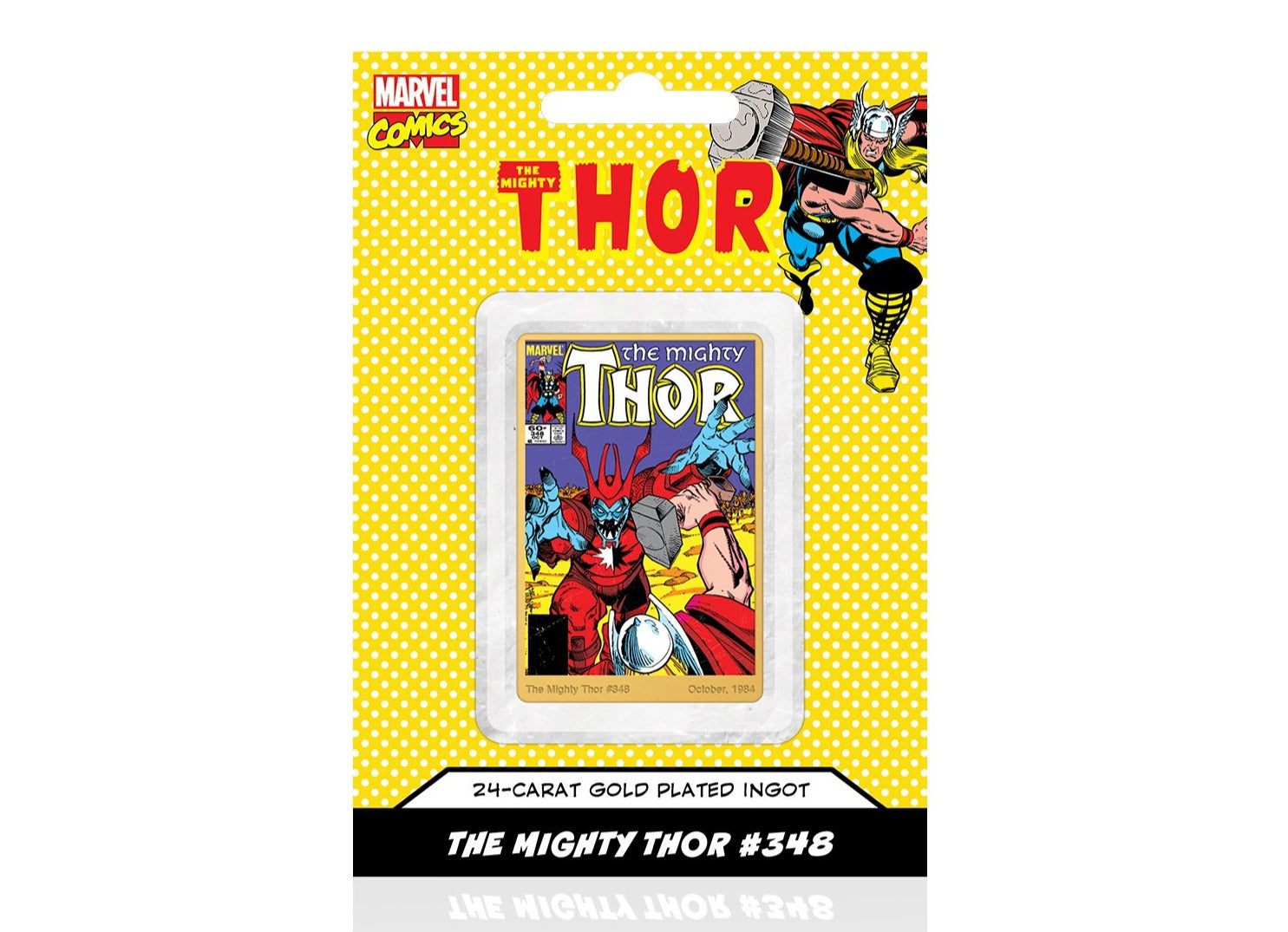 Marvel Comics Thor, Lingote bañado en Oro 24 Quilates - 'The Dark And The Light' #348