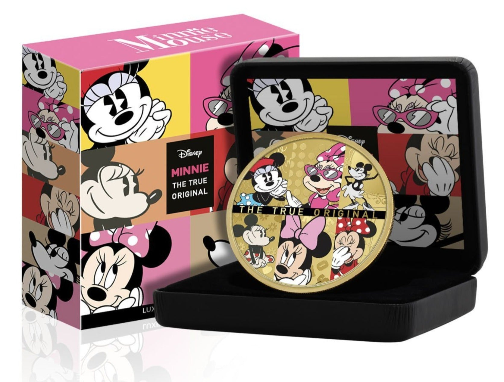 Disney Minnie Mouse Edición Luxe - Moneda / Medalla bañada en Oro 24 Quilates - 65mm