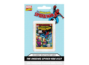 Marvel Comics Spiderman, Lingote bañado en Oro 24 Quilates - 'The Green Goblin Strikes' #137