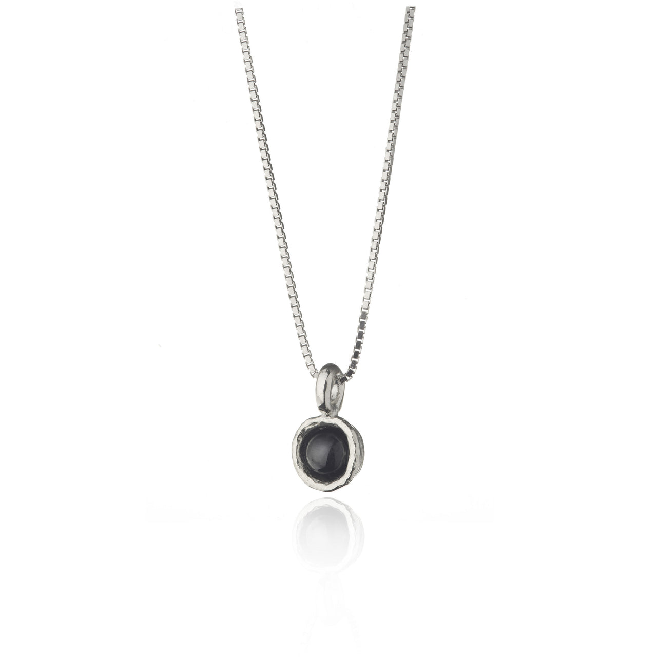 Askja Silver Necklace with Icelandic Lava