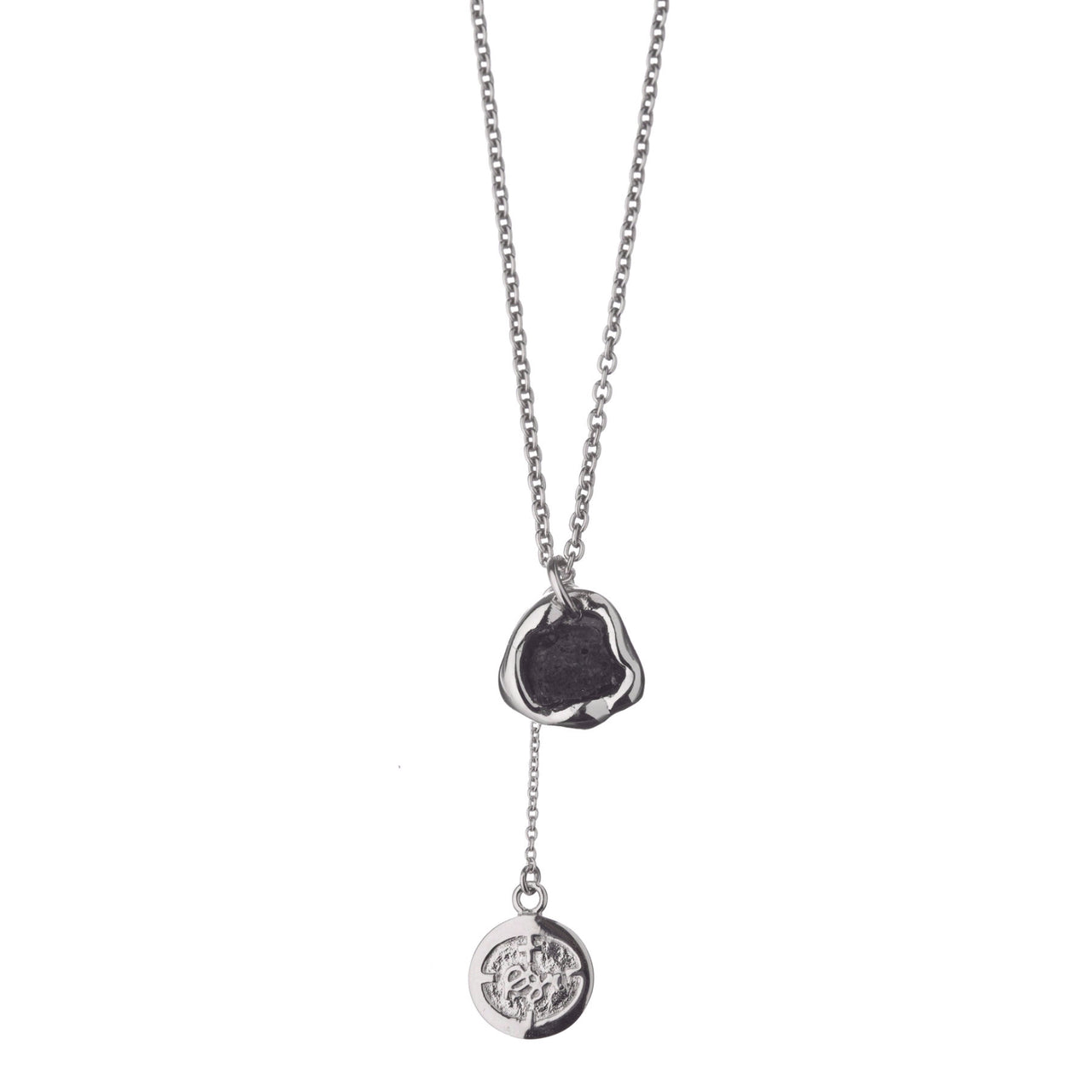 Hekla Silver Necklace with Icelandic Lava