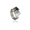 Fire and Ice Silver Ring with cubic zirconia