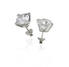 Fire and Ice Silver Earrings with cubic zirconia