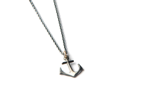 Anchor silver Necklace small
