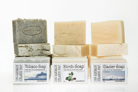 Soap Trio - Birch, Glacier and Volcano Soap Bars