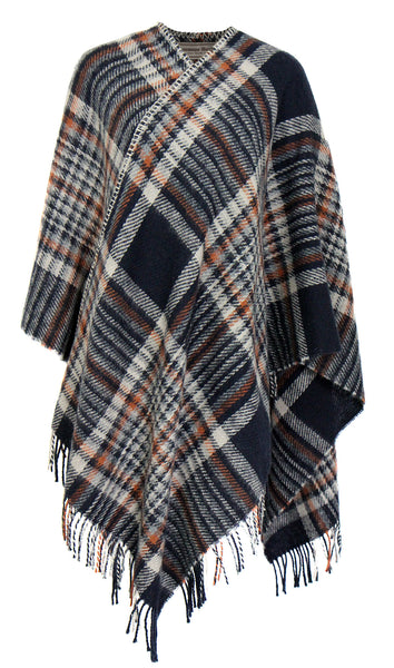 Katanes Plaided Woolen Poncho