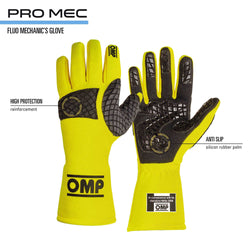 OMP Fluo Pro Mechanic Gloves