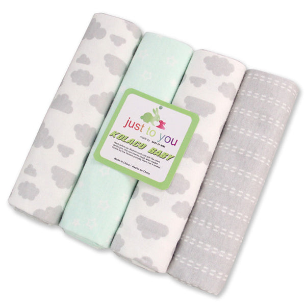 Cotton Multi-Purpose Blankets - 4 Pack (15+ Designs)