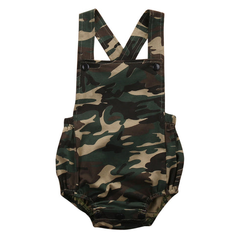 Cotton Camouflage Baby Romper