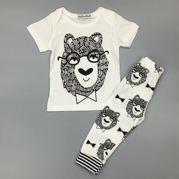 Boy / Girl Cotton Little Monsters Outfit (2 Colors)