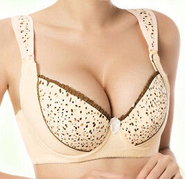Comfortable Stylish Nursing Bra - Skin Half Pattern