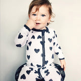 Cotton Baby Rompers - Hearts