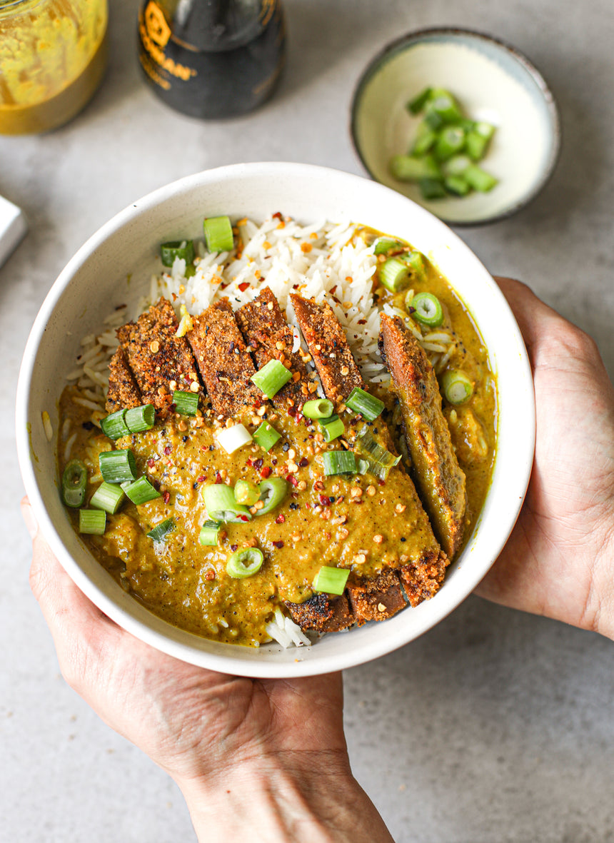 Vegan Katsu Curry with Breaded Steak and Sauce Recipe